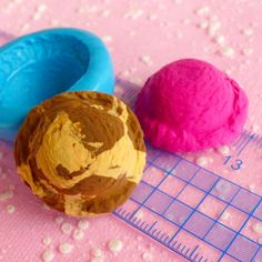 Ice Cream Scoop Mold 27mm Flexible Mold Silicone Mold Decoden Mold Miniature Sweets Cell Phone Deco Mold Kawaii Jewelry Cabochon Charms Mold. $5.75, via Etsy.