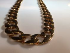 Vintage Monet Gold Tone Chain Link Collar by KansasCityTreasures