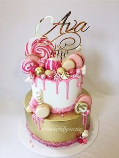 Cake Designs For Birthday For A Girl . Cake Designs For Birthday For A Girl Pink Drip Girls Birthday Cake Made Sweetssuzie Cakes Pretty Cakes, Cute Cakes, Beautiful Cakes, Amazing Cakes, Bolo Drip Cake, Bolo Cake, Drippy Cakes, Birthday Cake Girls, 15th Birthday