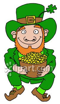 happy leprechaun with a pot of gold   st  patrick s day clipart    clipart com closeup   royalty free image of clover irish leprechaun