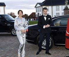 Royals come together to celebrate Queen Margrethe's birthday. Again.:Later that night, Princess Mary and Prince Frederik attended a celebratory dinner for Queen Margrethe.