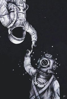 Espacio y mar.  Space and sea.
