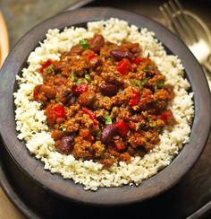 Quorn Chili with Cauliflower Rice