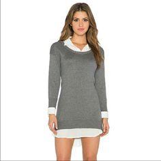 Central Park West Sweater Layer Mini Dress