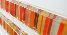 Interstyle manufactures unique glass tiles for backsplash, wall, and floor in bathrooms, kitchens, and hallway. Some tiles are made with recycled glass. Tile Installation, Color Tile, Recycled Glass, Tile Design, Colored Glass, Wall Tiles, Fused Glass, Backsplash, Design Inspiration