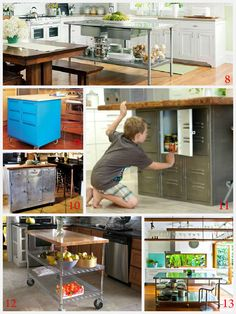 Kitchen Island Ideas for decorating and DIY projects. 2