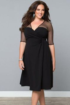 7151d05ea25 Dear lover Black V Neck Half Sleeve Sugar Spice Plus Size Dress Big Size  Women Clothing