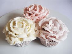 Pastel Rose Cupcakes Pastel Roses, Party Supplies, Cupcakes, Weddings, Birthday, Desserts, Inspiration, Food, Tailgate Desserts