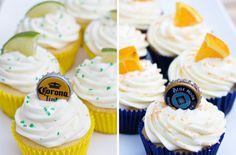 Beer Cupcakes (with possibly the greatest garnish ever?)
