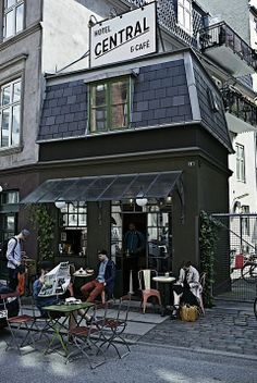 Love the glazed awning at the Central Hotel & Cafe, Copenhagen.