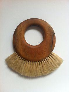 Vintage Carl Auböck dusting brushes, walnut/horsehair.