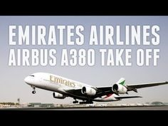 Emirates Airbus Take Off Amsterdam To Dubai Emirates Airbus, Emirates Airline, Airbus A380, Dubai Video, Flight Attendant, Airports, Airplanes, Amsterdam, Youtube