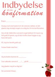 konfirmationsinvitationer tekst