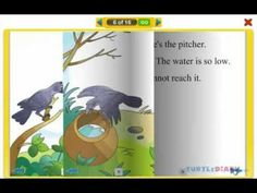 Worksheets English Childrens Small Storys little fish interactive reading book for kids at www turtlediary watch the story of a clever crow who teaches that where there is will way more stories visit