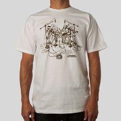 Upper Playground - Drum Set T-Shirt by David Choe
