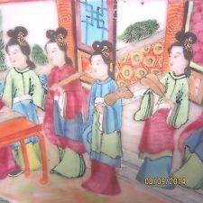 Large Antique Chinese Rose Mandarin Punch Bowl