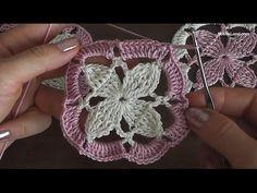 Уроки вязания крючком Crochet motif 2 - YouTube