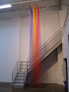 Can you believe that this is created just with sowing thread? By Mexican artist Gabriel Dawe. #color #installation #thread