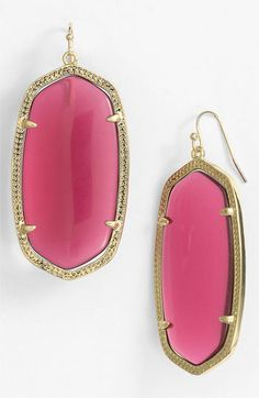 Kendra Scott 'Danielle' Oval Statement Earrings available at #NordstromWedding #Bridesmaid