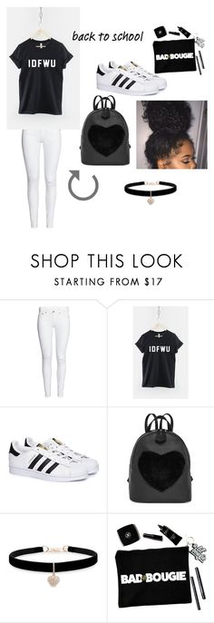 """Back 2 Skool- IDFWU"" by anaiya-aj on Polyvore featuring adidas and Betsey Johnson"