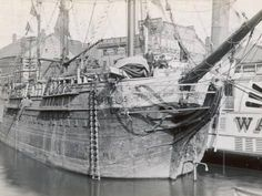 The Australian Convict Ship, Success, moored in Providence, Rhode Island, America Success Poster, Hulk, Van Diemen's Land, Coral Castle, First Fleet, Old Sailing Ships, Sydney City, Australia Day, Historical Images