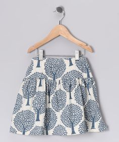 Denim Blue Tree Organic Skirt, $18.99 from #zulily for #fall.  Tres?