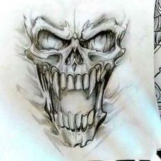 Картинки по запросу череп рисунок тату