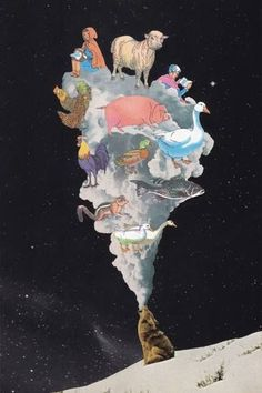 Big Bad Wolf - Collage Art  by Lerson  lersoncollage, collage, collage art, collage artist, collagist, handmade collage, analog collage, paper collage, craft, graphic-design, pop-art, photomontage, illustration, surrealism, surreal, fantasy, trippy, collage ideas, mixed media, artwork, saatchiart, home decor, home decor artwork, home decor artwork #handmadehomedecor