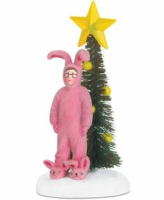a christmas story village pink nightmare collectible figurine