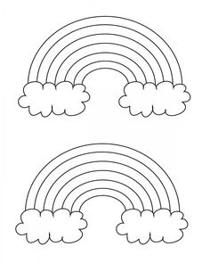 free printable rainbow coloring pages large medium and small - Blank Rainbow To Color