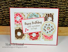 Look at this sweet box of donuts! Such a cute birthday card. (Inspired by this one by Maz.) I love the Sugar Rush Cardmak...