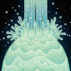 Tara McPherson   ART Paintings Wandering Luminations The Crystal Waterfall