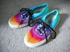 Tie dye Vans shoesupcycled by DoYouDreamOutLoud on Etsy