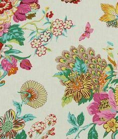 222442 Elizas Garden Blossom Fabric by Robert Allen