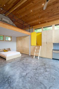 Polished Concrete floor - contemporary bedroom by Steven Allen Designs, LLC