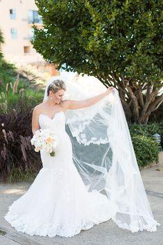 Bride and groom portraits at Monterey Plaza Hotel Wedding in Monterey California by TréCreative Film&Photo trecreative.com