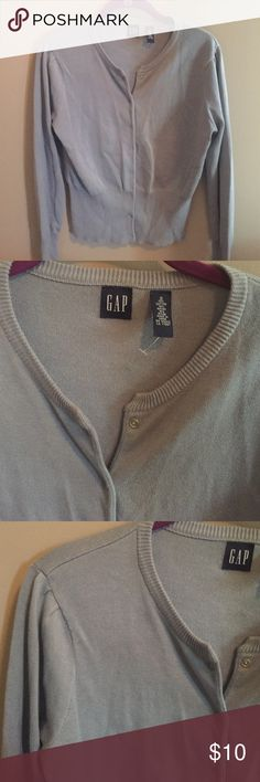 Gray sweetheart cardigan The Gap go-to sweetheart cardigan, never worn GAP Sweaters Cardigans