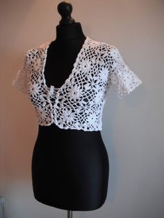 how to crochet white bolero free pattern tutorial (+playlist)