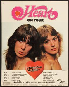 FREE POSTER Heart RARE Fanatic Poster Promo NEW Double-Sided Nancy Wilson