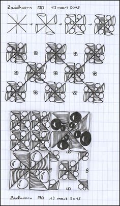 (Klik op de afbeelding om te vergroten)  In mijn kladschriftje al heel wat krabbetjes staan..  en bovenstaand patroontje koos ik uiteinde...