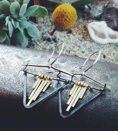 Valley Fringe Silver Earrings