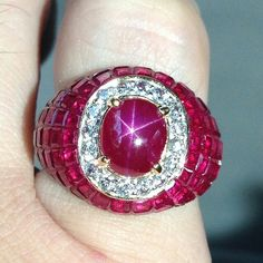 Red.. Red..Red  #starruby #Burma #Unheated #Gems #Ring #Jewelry