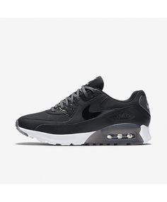ca0e55d59bb5 Nike Air Max 90 Ultra Essential Womens Black Dark Grey Pure Platinum Black  Nike Air Max