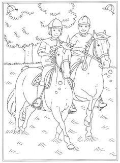 Kleurplaat Paarden Kids N Fun Coloring Coloring Pages Horse