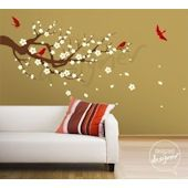 Season of Cherry Tree Wall Decal