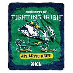 Notre Dame Fighting Irish Fleece Blanket Throw 50x60