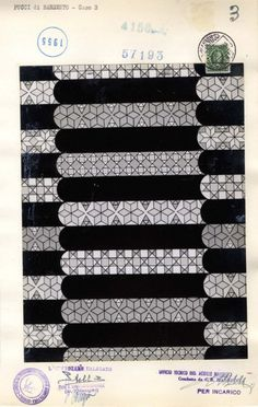 Emilio Pucci (1914-1992) | pattern 1955  Archivi della moda del novecento