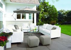 Chic White Patio | HGTVRemodels.com