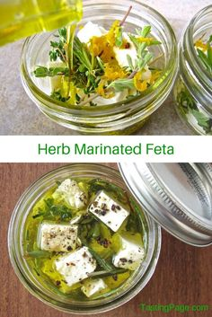 Herb Marinated Feta | TastingPage.com