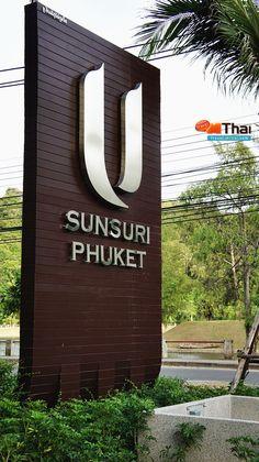 hotel signage U Sunsuri Phuket Pylon Signage, Monument Signage, Hotel Signage, Entrance Signage, Store Signage, Outdoor Signage, Exterior Signage, Entrance Design, Wayfinding Signage